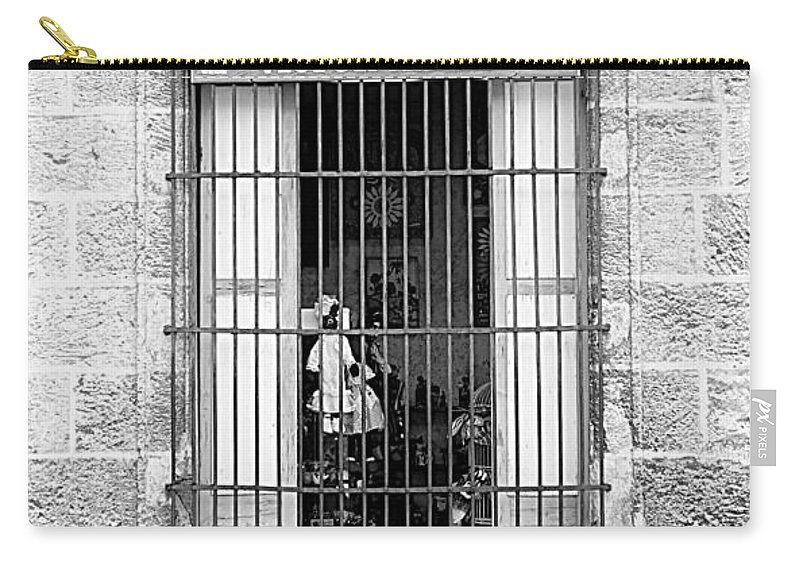 Victor Carry-all Pouch featuring the photograph Victor's Not Here by Valentino Visentini