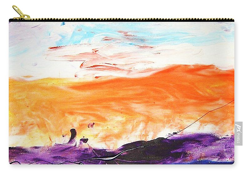 Carry-all Pouch featuring the mixed media Victory by Luz Elena Aponte