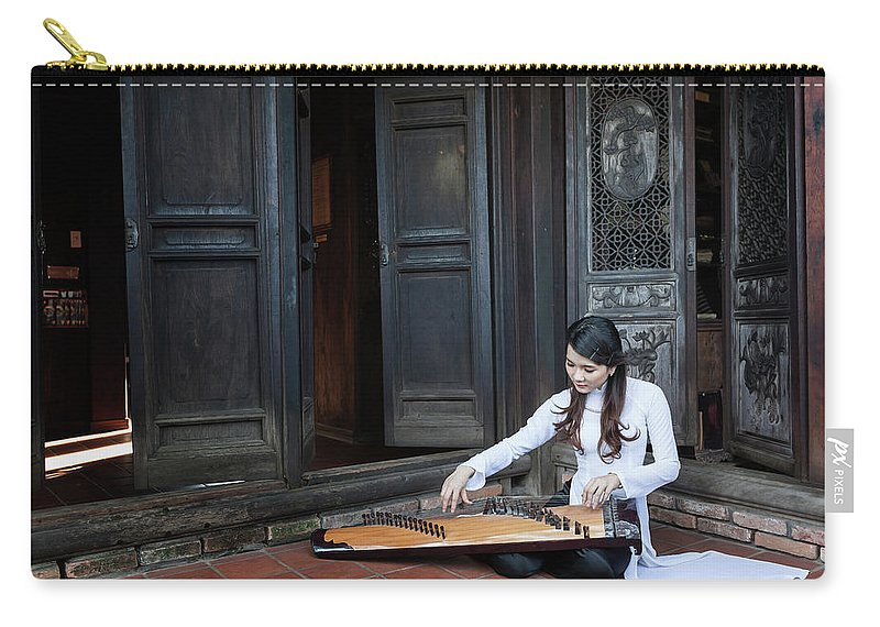 Three Quarter Length Carry-all Pouch featuring the photograph Vietnamese Ao Dai Playing Orchestra by Jethuynh