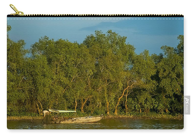 Asia Carry-all Pouch featuring the photograph Vietnamese Fishing by Mark Llewellyn