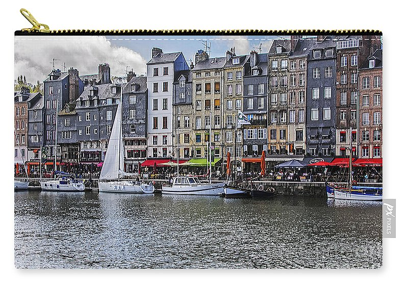 Travel Carry-all Pouch featuring the photograph Vieux Bassin Of Honfleur by Elvis Vaughn
