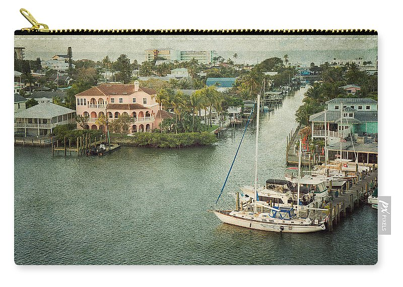 Fort Myers Beach Carry-all Pouch featuring the photograph View At Fort Myers Beach - Florida by Kim Hojnacki