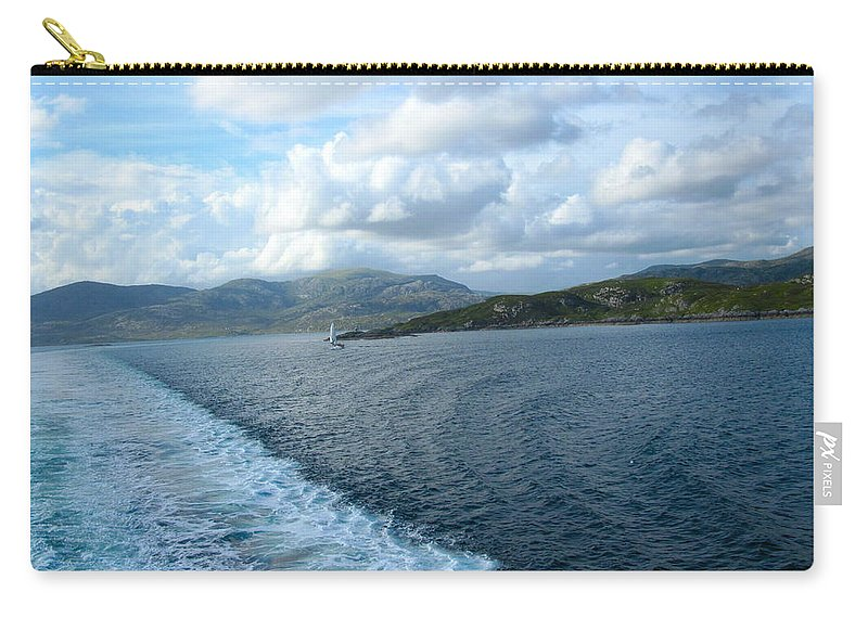 Water Carry-all Pouch featuring the photograph View From A Scottish Ferry by Denise Mazzocco
