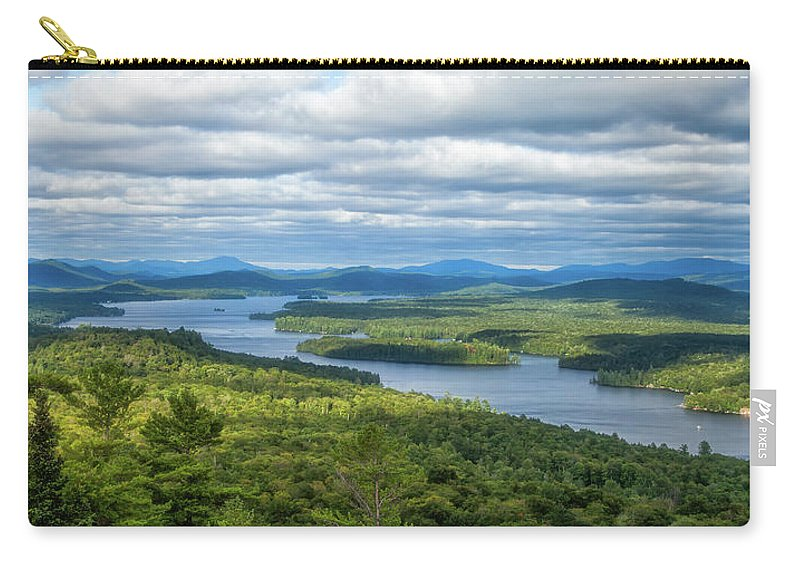 Tranquility Carry-all Pouch featuring the photograph View From Bald Mountain by Barbara Friedman