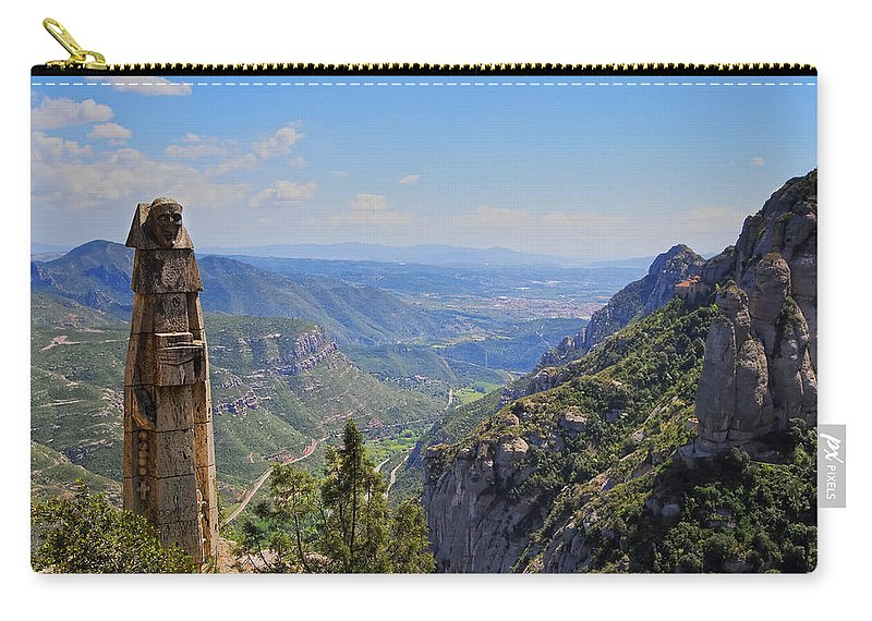 Horizontal Carry-all Pouch featuring the photograph View From Montserrat Mountain by Karol Kozlowski