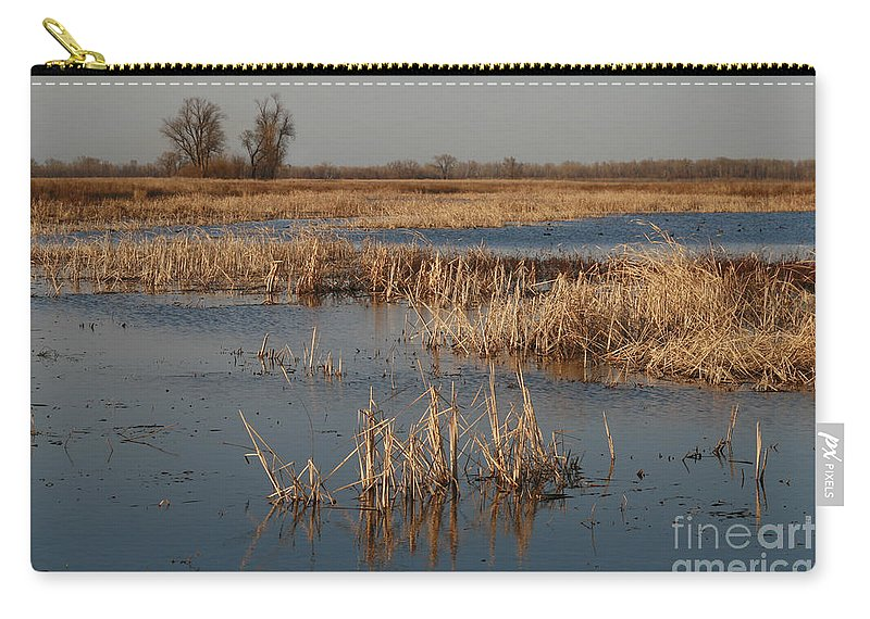 Wet Lands Carry-all Pouch featuring the photograph View From The Duck Blind by Garry McMichael