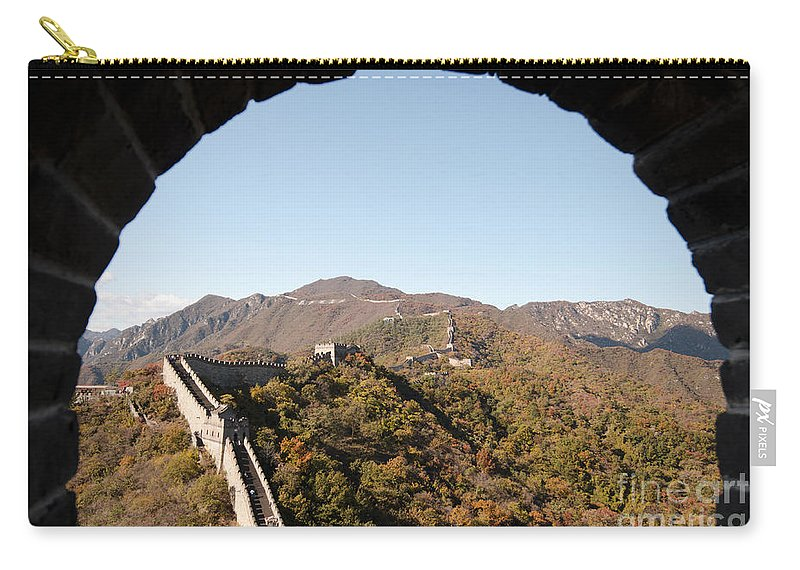 Window View Carry-all Pouch featuring the photograph View From The Great Wall 696 by Terri Winkler