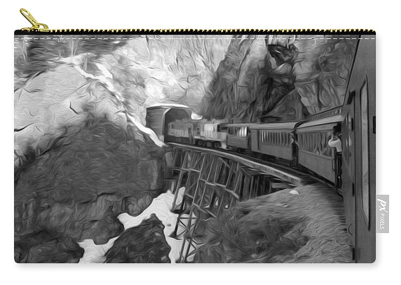 Yukon Railroad Carry-all Pouch featuring the photograph View From The Train by Tracy Winter