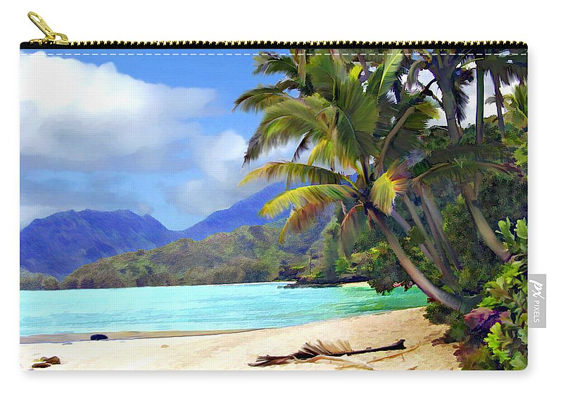 Hawaii Carry-all Pouch featuring the photograph View From Waicocos by Kurt Van Wagner