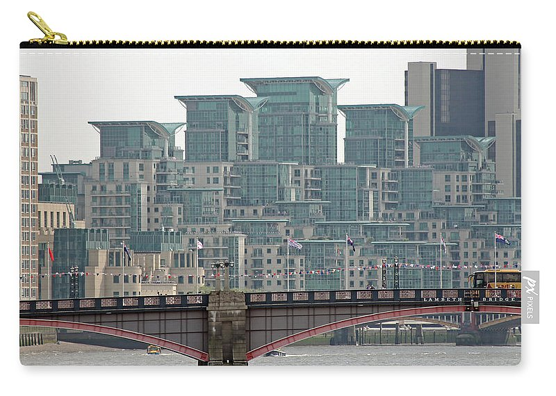 London Carry-all Pouch featuring the photograph View From Westminster Bridge by Tony Murtagh
