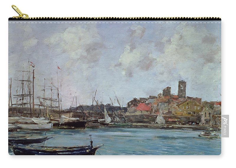 Provence Carry-all Pouch featuring the painting View Of Antibes by Eugene Louis Boudin