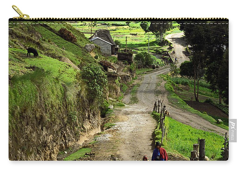 Ecuador Carry-all Pouch featuring the photograph View Of Lupaxi by Kathy McClure
