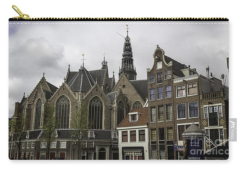 2014 Carry-all Pouch featuring the photograph View Of Oude Kerk Amsterdam by Teresa Mucha