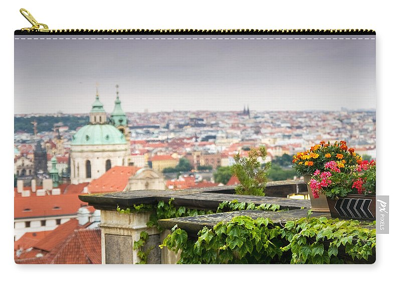 Architecture Carry-all Pouch featuring the photograph View Of Prague by Michal Bednarek