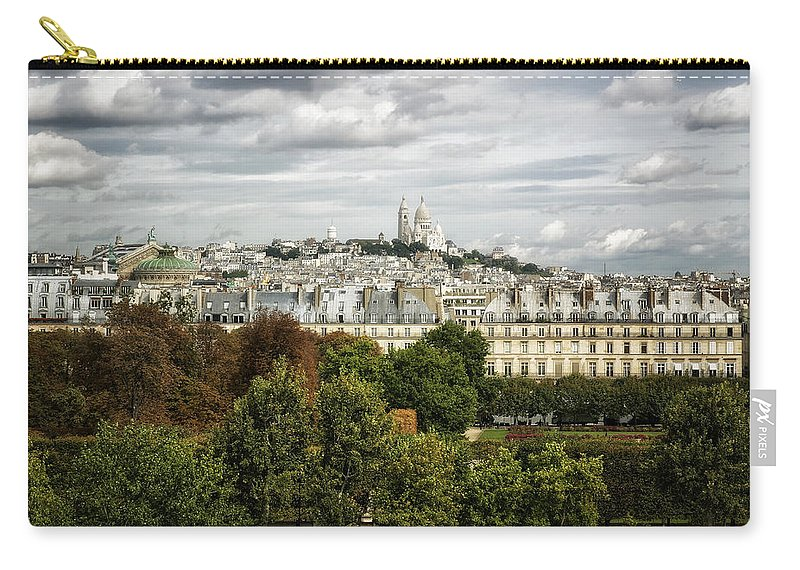 Sacre Coeur Carry-all Pouch featuring the photograph View Of Sacre Coeur From The Musee D'orsay by Belinda Greb