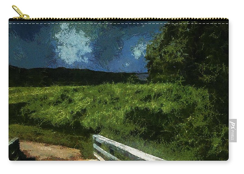 Bridge Carry-all Pouch featuring the painting View Of The Night Sky From The Old Bridge by RC DeWinter