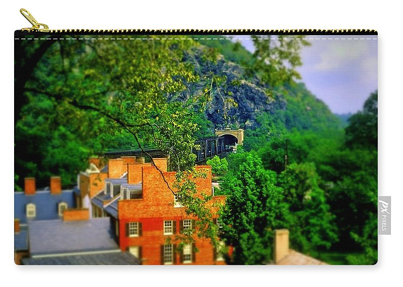 Fine Art Carry-all Pouch featuring the photograph View Of Train Tunnel by Rodney Lee Williams
