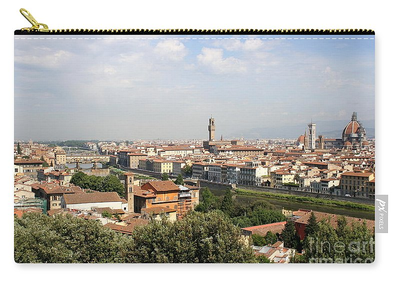 City Carry-all Pouch featuring the photograph View Over Florence by Christiane Schulze Art And Photography