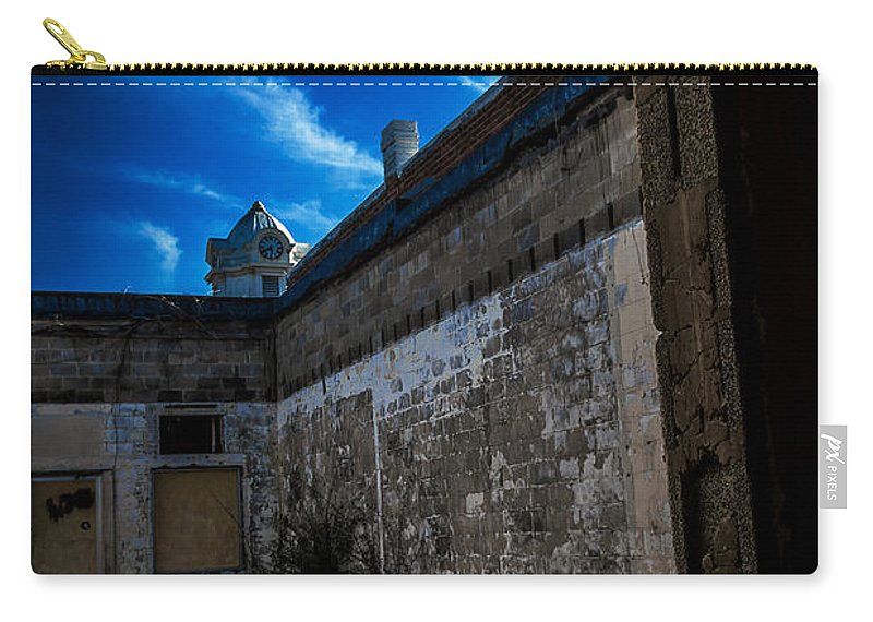 Abandoned Carry-all Pouch featuring the photograph View Through A Door by Ken Frischkorn