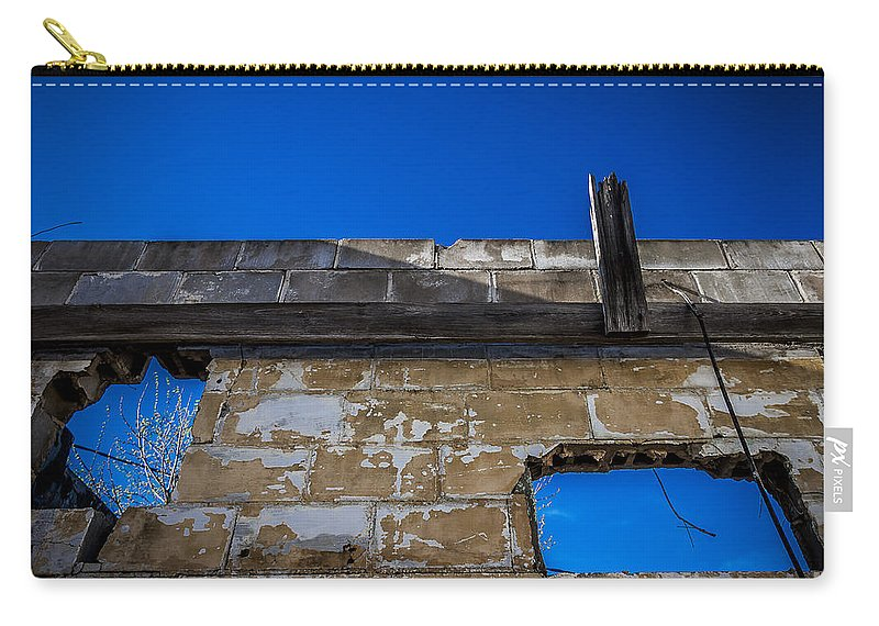 Abandoned Carry-all Pouch featuring the photograph View Through A Window by Ken Frischkorn