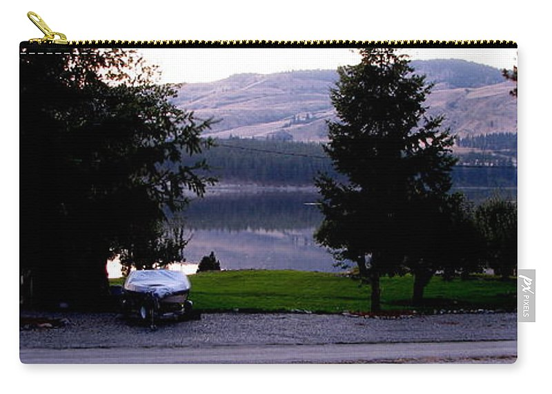 Art For The Wall...patzer Photography Carry-all Pouch featuring the photograph View To Columbia by Greg Patzer