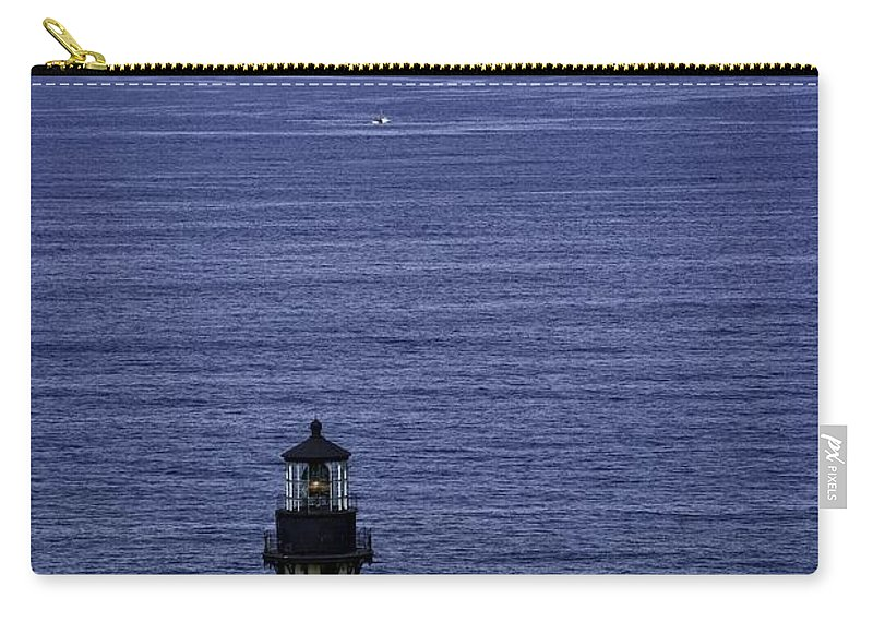 Newport Carry-all Pouch featuring the photograph Viewing The Newport Lighthouse by Image Takers Photography LLC - Carol Haddon
