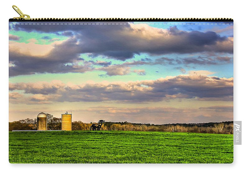 The Iron Horse Carry-all Pouch featuring the photograph Vigilant The Iron Horse by Reid Callaway