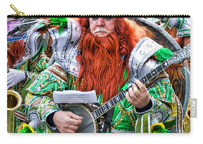 Mummer Carry-all Pouch featuring the photograph Viking Mummer by Alice Gipson
