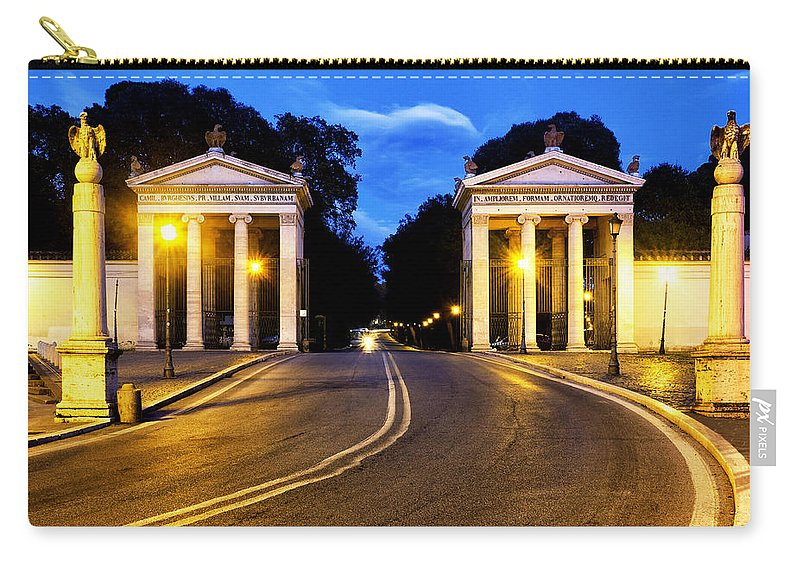 Moumental Carry-all Pouch featuring the photograph Villa Borghese by Fabrizio Troiani
