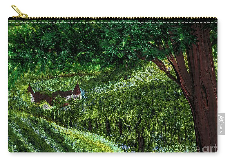 First Star Art Carry-all Pouch featuring the painting Villa By Jrr by First Star Art
