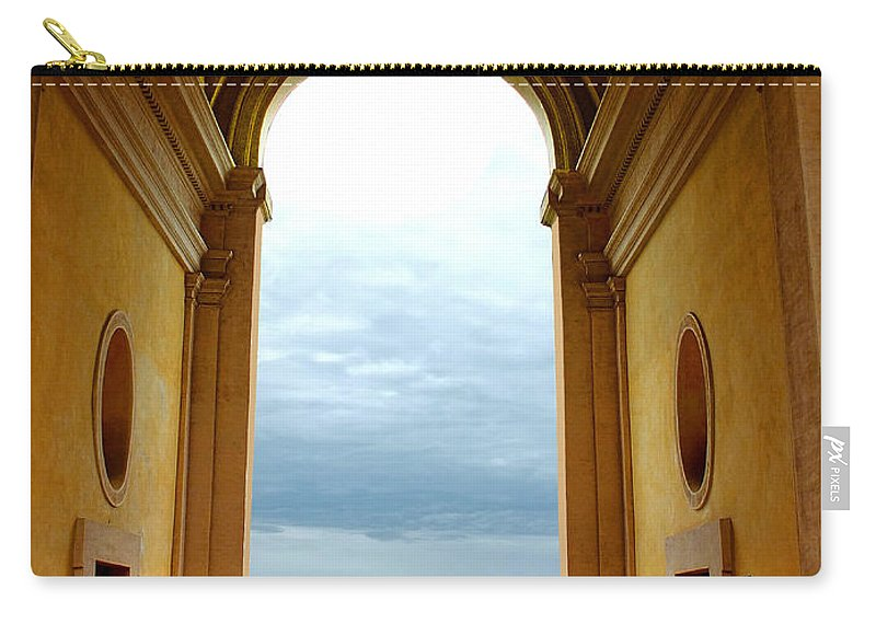 Villa D'este Carry-all Pouch featuring the photograph Villa Deste Tivoli Italy by Mike Nellums