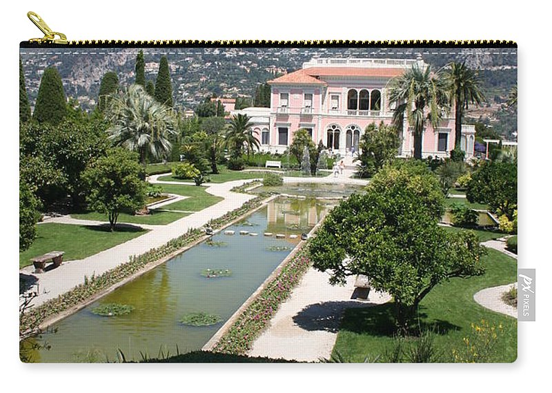 Villa Carry-all Pouch featuring the photograph Villa Ephrussi De Rothschild And Garden by Christiane Schulze Art And Photography