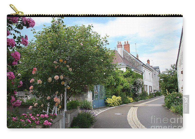 Village Carry-all Pouch featuring the photograph Village Road by Christiane Schulze Art And Photography