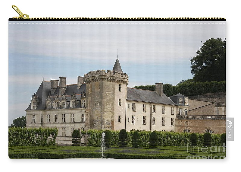 Palace Carry-all Pouch featuring the photograph Villandry Chateau And Boxwood Garden by Christiane Schulze Art And Photography