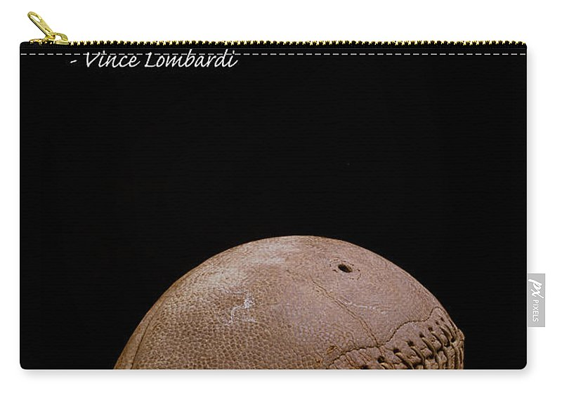 Football Carry-all Pouch featuring the photograph Vince Lombardi On Winning by Edward Fielding