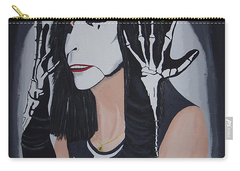 Crazy Carry-all Pouch featuring the painting Vincent by Dean Stephens