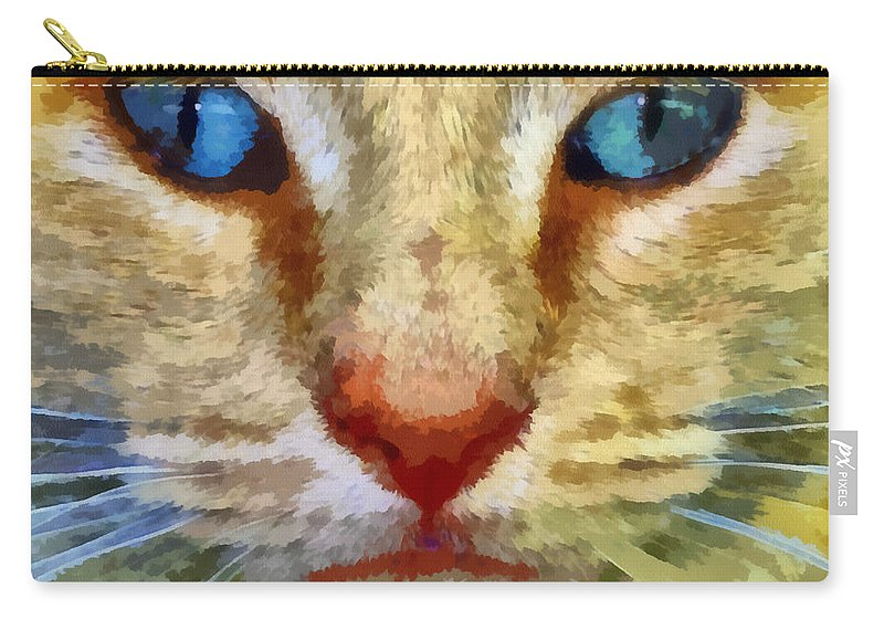 Cat Carry-all Pouch featuring the photograph Vincent by Michelle Calkins