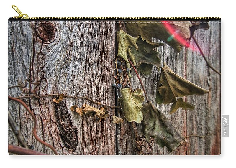 Vine Carry-all Pouch featuring the photograph Vines And Barns by Daniel Sheldon
