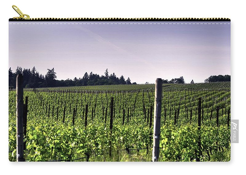 Hdr Carry-all Pouch featuring the photograph Vineyard 24077 by Jerry Sodorff