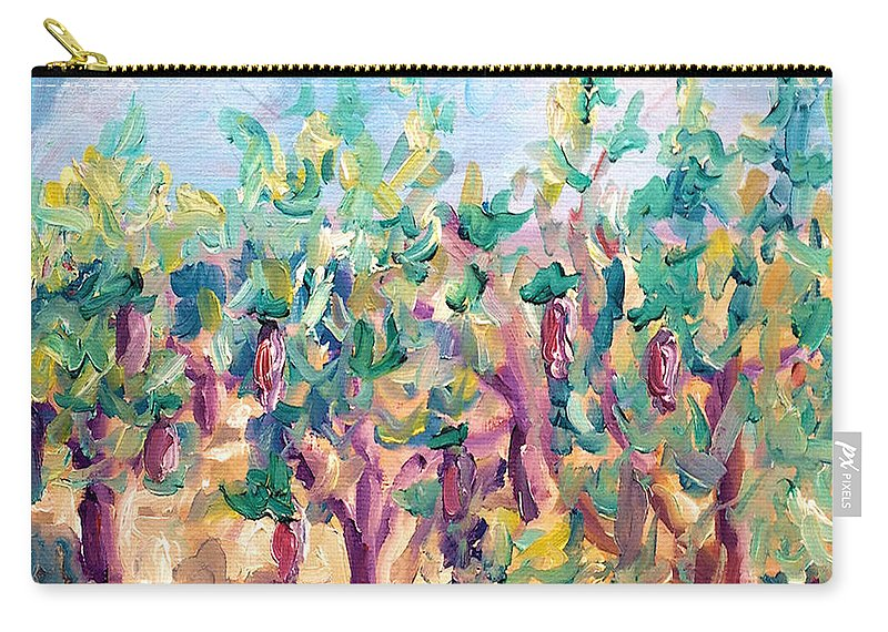 Vineyard Carry-all Pouch featuring the painting Vineyard In The Afternoon Sun by Todd Bandy