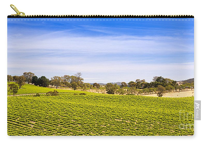 Wine Carry-all Pouch featuring the photograph Vineyard by Tim Hester
