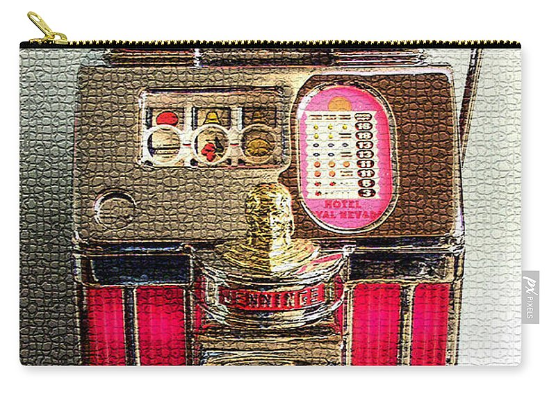 Carry-all Pouch featuring the digital art Vintage 10 Cent Slot Machine by Marvin Blaine