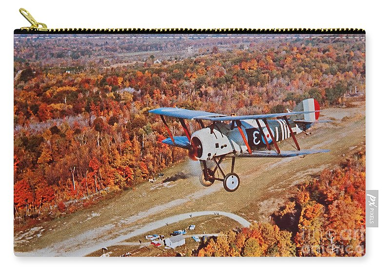 Vintage Carry-all Pouch featuring the photograph Vintage Airplane Postcard Art Prints by Valerie Garner
