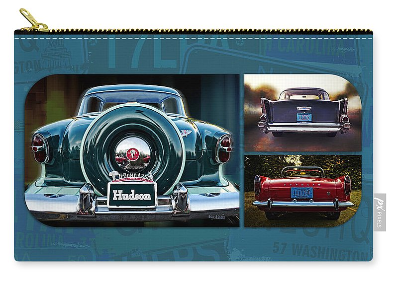 Vintage Automobiles Carry-all Pouch featuring the photograph Vintage Automobiles by Mary Machare