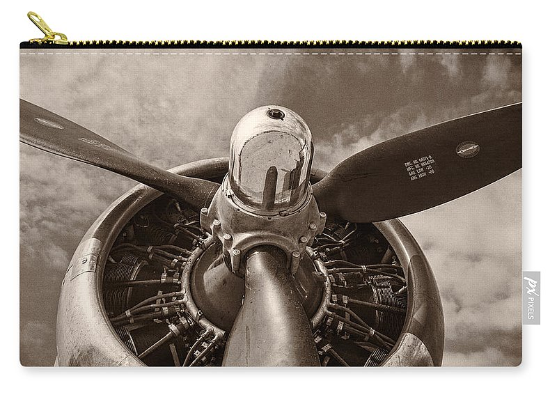 3scape Carry-all Pouch featuring the photograph Vintage B-17 by Adam Romanowicz