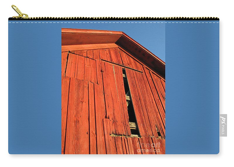 Barn Carry-all Pouch featuring the photograph Vintage Barn Aglow by Ann Horn