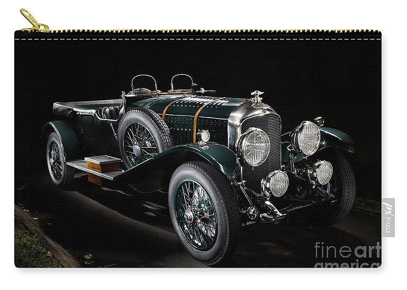Bentley Carry-all Pouch featuring the photograph Vintage Bentley 4.5 Liter Le Mans by Frank Kletschkus