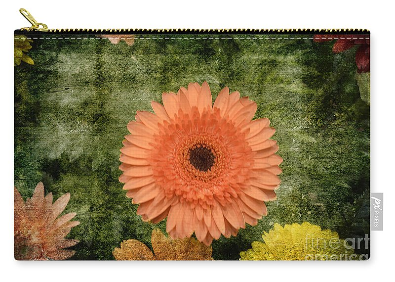 Vintage Blooms Carry-all Pouch featuring the photograph Vintage Blooms by Luther Fine Art