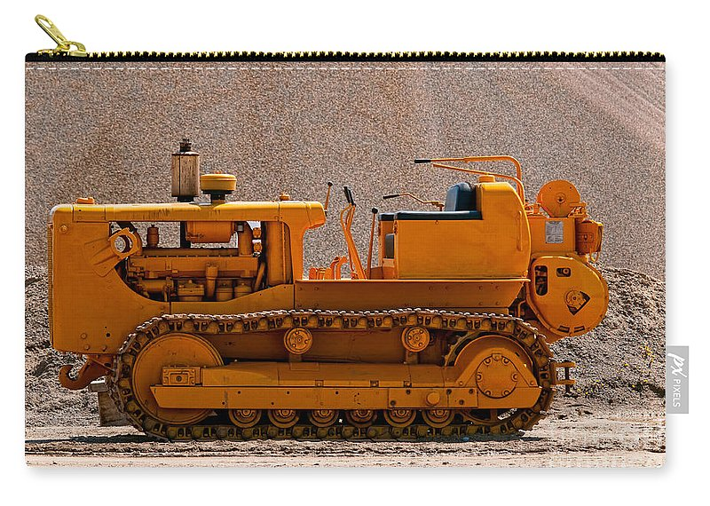 Vintage Carry-all Pouch featuring the photograph Vintage Bulldozer by Les Palenik