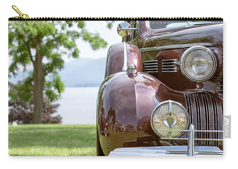 2014 Carry-all Pouch featuring the photograph Vintage Caddy At Lake George by Edward Fielding